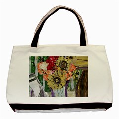 Sunflowers And Lamp Basic Tote Bag (two Sides)