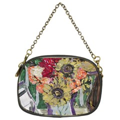 Sunflowers And Lamp Chain Purses (two Sides)