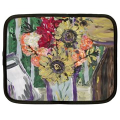 Sunflowers And Lamp Netbook Case (xl)  by bestdesignintheworld