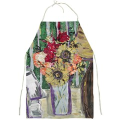 Sunflowers And Lamp Full Print Aprons