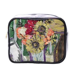 Sunflowers And Lamp Mini Toiletries Bags