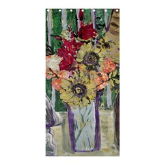 Sunflowers And Lamp Shower Curtain 36  X 72  (stall)  by bestdesignintheworld