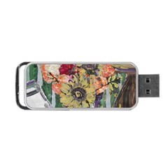 Sunflowers And Lamp Portable Usb Flash (two Sides)