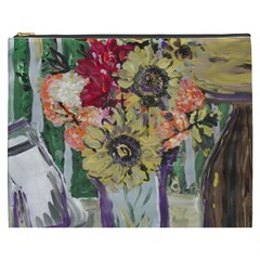 Sunflowers And Lamp Cosmetic Bag (xxxl)