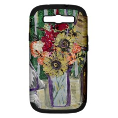 Sunflowers And Lamp Samsung Galaxy S Iii Hardshell Case (pc+silicone) by bestdesignintheworld