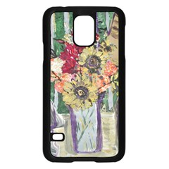 Sunflowers And Lamp Samsung Galaxy S5 Case (black)