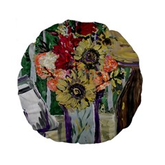 Sunflowers And Lamp Standard 15  Premium Flano Round Cushions by bestdesignintheworld
