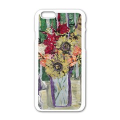 Sunflowers And Lamp Apple Iphone 6/6s White Enamel Case by bestdesignintheworld
