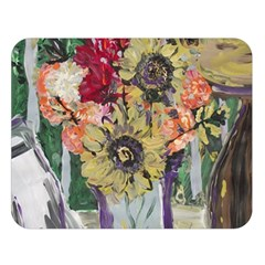 Sunflowers And Lamp Double Sided Flano Blanket (large)