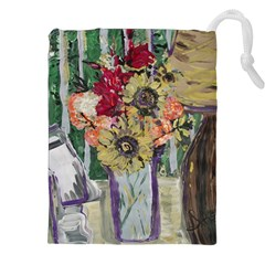 Sunflowers And Lamp Drawstring Pouches (xxl)