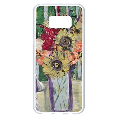 Sunflowers And Lamp Samsung Galaxy S8 Plus White Seamless Case by bestdesignintheworld