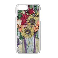 Sunflowers And Lamp Apple Iphone 8 Plus Seamless Case (white)