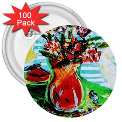 Dry Flowers On Your Windows 3  Buttons (100 Pack)
