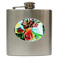 Dry Flowers On Your Windows Hip Flask (6 Oz)