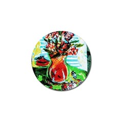 Dry Flowers On Your Windows Golf Ball Marker (4 Pack)