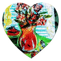 Dry Flowers On Your Windows Jigsaw Puzzle (heart)