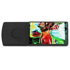 Dry Flowers On Your Windows Rectangular Usb Flash Drive