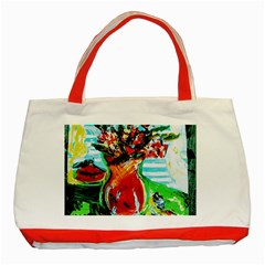 Dry Flowers On Your Windows Classic Tote Bag (red)