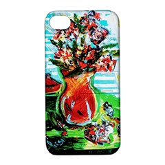 Dry Flowers On Your Windows Apple Iphone 4/4s Hardshell Case With Stand