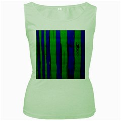 Stripes Women s Green Tank Top
