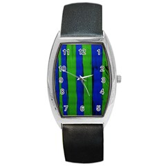 Stripes Barrel Style Metal Watch by bestdesignintheworld