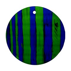 Stripes Round Ornament (two Sides)
