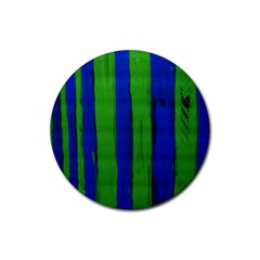 Stripes Rubber Round Coaster (4 Pack)
