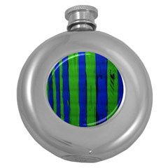 Stripes Round Hip Flask (5 Oz)