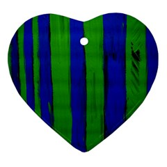 Stripes Heart Ornament (two Sides)