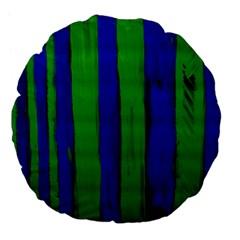Stripes Large 18  Premium Flano Round Cushions