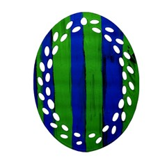 Stripes Oval Filigree Ornament (two Sides)