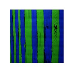 Stripes Small Satin Scarf (square)