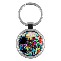 Still Life With Two Lamps Key Chains (round)