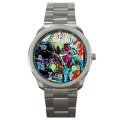Still Life With Two Lamps Sport Metal Watch