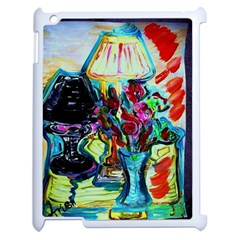 Still Life With Two Lamps Apple Ipad 2 Case (white) by bestdesignintheworld