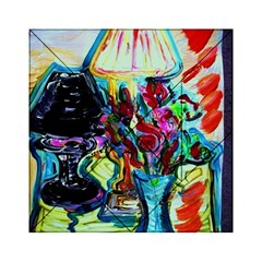 Still Life With Two Lamps Acrylic Tangram Puzzle (6  X 6 )
