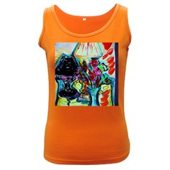 Still Life With Two Lamps Women s Dark Tank Top