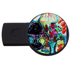 Still Life With Two Lamps Usb Flash Drive Round (4 Gb)