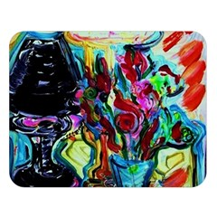 Still Life With Two Lamps Double Sided Flano Blanket (large)