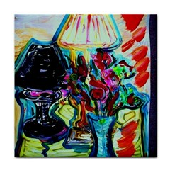 Still Life With Two Lamps Face Towel