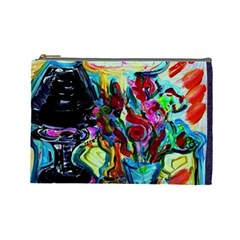 Still Life With Two Lamps Cosmetic Bag (large)