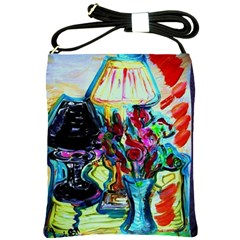 Still Life With Two Lamps Shoulder Sling Bags