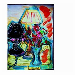 Still Life With Two Lamps Large Garden Flag (two Sides)
