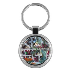 Still Life With Tangerines And Pine Brunch Key Chains (round)