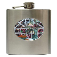 Still Life With Tangerines And Pine Brunch Hip Flask (6 Oz)