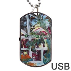 Still Life With Tangerines And Pine Brunch Dog Tag Usb Flash (two Sides)