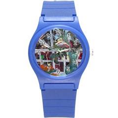 Still Life With Tangerines And Pine Brunch Round Plastic Sport Watch (s) by bestdesignintheworld