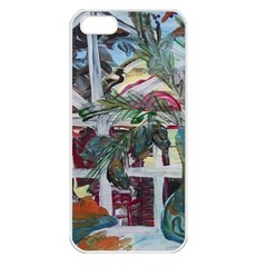 Still Life With Tangerines And Pine Brunch Apple Iphone 5 Seamless Case (white)