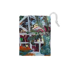 Still Life With Tangerines And Pine Brunch Drawstring Pouches (small)