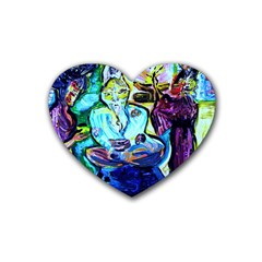 Old Light And New Light Heart Coaster (4 Pack)